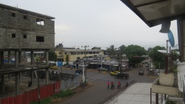 the view from the hotel, downtown Liberia.