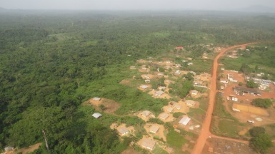 hovering over the town of tappita