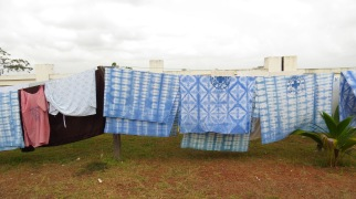the hospital linens out to dry