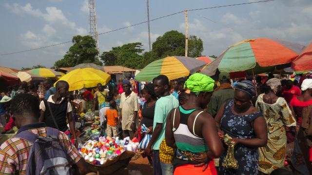 the market, before I got told to put my camera away. it's totally packed